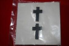 ORIGINAL VIETNAM US CHRISTIAN CHAPLAIN METAL COLLAR BADGES SUBDUED