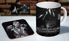 Machine Gun Kelly Wise Words Tea / Coffee Mug Coaster Gift Set