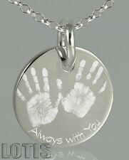925 Sterling Silver - Personalised Custom Engraved Pendant