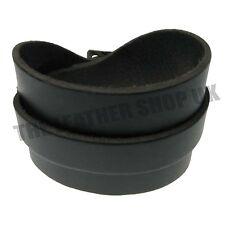 Black Adjustable Single Layer Wrist Wrap Cuff Wristband For Mens Womens UK Made