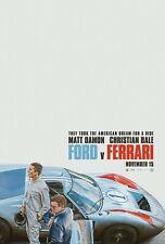 "Ford v. Ferrari version 1 Movie Poster 24"" x 36"" or 27""x 40"""