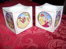 Pair Hutschenreuther Porcelain Candlesticks, Christmas 2002, Cinderella