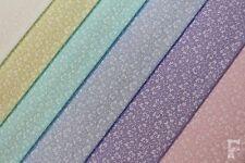 FIORE BIANCO/FOGLIA - Tessuto in policotone con stampa - larghezza 112 cm