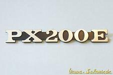 VESPA - Emblem Schriftzug Seitenhaube - PX200E / PX 200 E - Seitendeckel Chrom