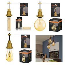 OSRAM del Vintage 1906 Filament gamme avec SUSPENSION doré pendule support lampe