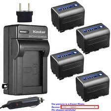 Kastar Battery AC Travel Charger for Sony NP-QM71D & DCR-TRV10 DSC-F717 DSC-S30