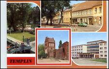 GDR Postcard Brandenburg Templin etc. Airlock channel, market, FDGB Home etc.