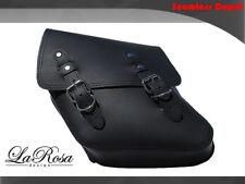 La Rosa Harley Dyna Saddlebag - 1996 UP Black Leather Harley Glide Left Solo Bag