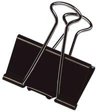 10 x Foldback-Klammer Briefklammer schwarz Metall 5 verschiedene Größen wählbar