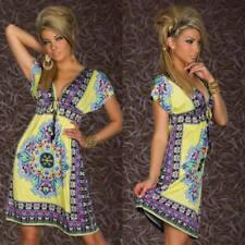 Sexy Summer Women Retro Bohemian Short Sleeve Beach Maxi Sundress Evening Dress