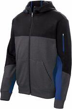 Sport-Tek Men's Tech Fleece Colorblock Full Zip Hooded ST245