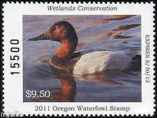 Oregon #28 2011 State Duck Stamp Canvasback by Robert Steiner