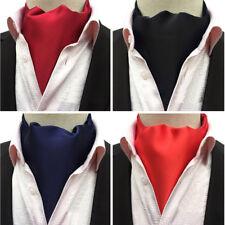 Men Retro Plain Color Long Scarves Cravat Ascot Ties Gentlemen Neckties KKTHZ233