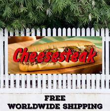 Banner Vinyl Cheesesteak Advertising Sign Flag Sandwich Beef Grinders Philly Sub