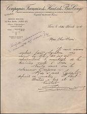 """PARIS (IX° Arrt.) COMMERCE D'IVOIRE """"Cie Française HAUT & BAS CONGO"""" en 1934"""