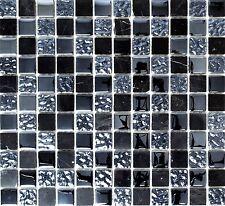 Mosaiksteine Glasmosaik/Stein grau/schwarz Glas Naturstein - Art: 62-0302-GN_f