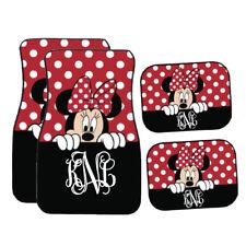 Personalized Disney Car Mat | Black & Red Peeking Minnie Mouse Car Mat