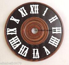 cadran d' horloge pendule coucou en bois  ø 12 cm