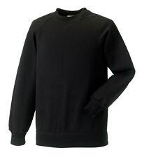 Russell Jerzees 762B Plain BLACK Kids Childs School Jumper Sweatshirt No Logo