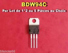 ST TO220 *** *** LOT DE 1*2 OU 5 TRANSISTORS NPN BDW93C