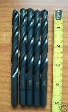 """3/8"""" Drill Bit Black Oxide Chip Breaker Point 5pack KBT"""
