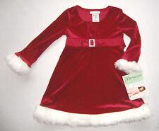 Festtagskleid rot NEU Gr. 92 - 110 Kleid Weihnachtskleid Blumenmädchen Glitzer