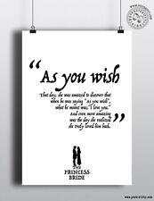 La Princesa Novia-como desee minimalista película arte cartel mínima posteritty