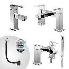 AUSTIN BATHROOM TAP SET BATH FILLER BATH SHOWER MIXER MONO BASIN MIXER & WASTE