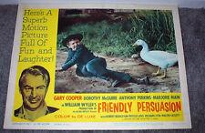 FRIENDLY PERSUASION 11x14 RICHARD EYER/GARY COOPER original lobby card poster