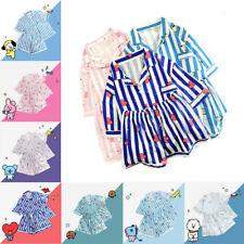 KPOP BTS Cartoon Shirt Pajamas Set Bangtan Boys Unisex Short Pant Sleepwear
