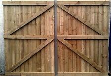 12 FT Wooden garden Gate, Driveway gate,Double Gate,Featheredge Gate  Heavy Duty