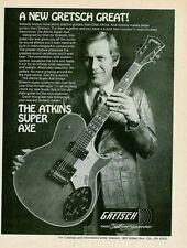 1977 THE LATE CHET ATKINS SUPER AXE GRETSCH GUITAR AD
