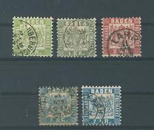 Baden 23-25 gestempelt Farben 24 = BPP-geprüft (B01537)