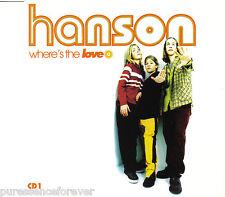 HANSON - Where's The Love (UK 4 Track CD Single Part 1)