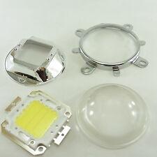 58 mm lente de cristal, Reflector Y Soporte + 20 W LED blanco frío set completo G03+A17