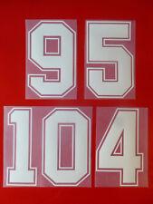 Flock Nummer number número away Trikot jersey shirt England 1988 1990