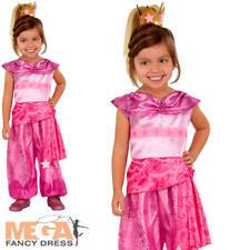 Leah Genie Girls Fancy Dress Shimmer & Shine Cartoon Kids Childs Costume Outfit