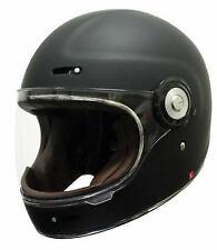 New Scorpion Vintage Full face Motorcycle Helmet Matt Black XS - XL