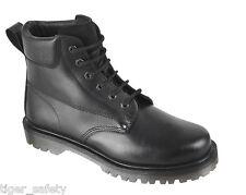 TUFFKING Size 15 Black leather uniform ankle boot EN20345 - SB