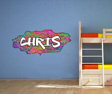 Nombre Personalizado Graffiti Ladrillo Adhesivo Pared