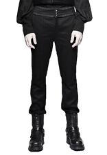 Pantalon noir pour homme à rayure fine et effet ceinture élégante p Punk Rave