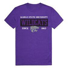 University of Kansas State Wildcats NCAA Cotton Graphic Tee T-Shirt - Sz S- 2XL