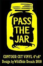 Pass The Jar Moonshine Decal Vinyl Car Window Sticker Laptop Graphic