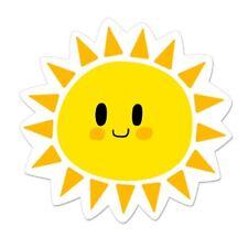 Cute Sun Car Laptop Phone Vinyl Sticker  - SELECT SIZE