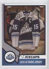 2013 St John's IceCaps Team Issue NoN 2013-14 Third Jersey St. (AHL) Hockey Card