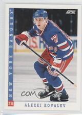 1993-94 Score Canadian #203 Alex Kovalev New York Rangers Hockey Card