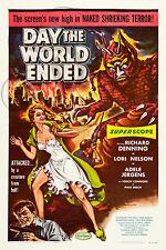 REPRO DECO AFFICHE CINEMA DAY THE WORLD ENDED 1956 SUR PAPIER 190 OU 310 GRS