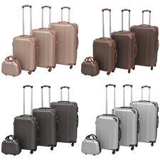 vidaXL 4PC Suitcase Trolley Set TSA Travel Bag Luggage Hardcase Multi Colours