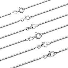 echte 925er Sterlingsilber Schlangenkette 4x diamantiert glänzend Damen Kinder