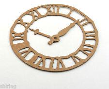"Sizzix Tim Holtz Weathered Clock Raw White Chipboard Die Cut Embellishment 4.75"""